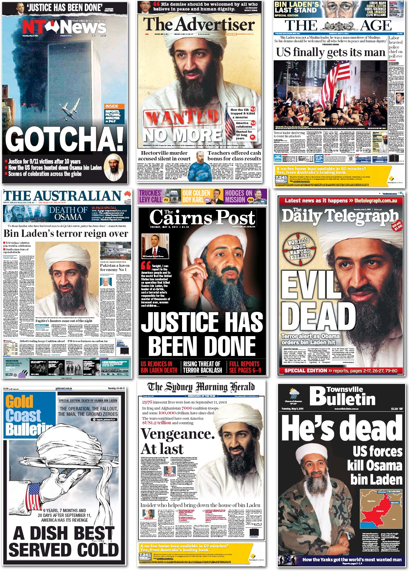 "The demise of Osama Bin Laden yesterday is a universal ""front page news"" story. Regardless of origin or language, one word dominates: ""dead""."