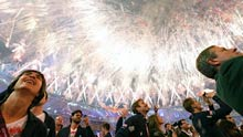 Perhaps director Danny Boyle set the bar too high with his brilliant coordination of the Olympics Opening Ceremony. The Closing Ceremony was messy and wit-less, saved only by the spectacle of good old fashioned fireworks, writes <b>Alan Davies</b>.