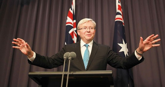 Labor has tried to beat Tony Abbott down with charges of negativity. It didn't work. Kevin Rudd is changing the play, hinting in question time yesterday of a new strategy.