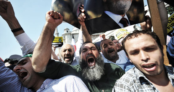 The Muslim Brotherhood's fury at the removal of their freely elected president has been met with fire in Egypt, in one of the bloodiest days of the movement. <b>Vickie Smiles</b> reports from Egypt.