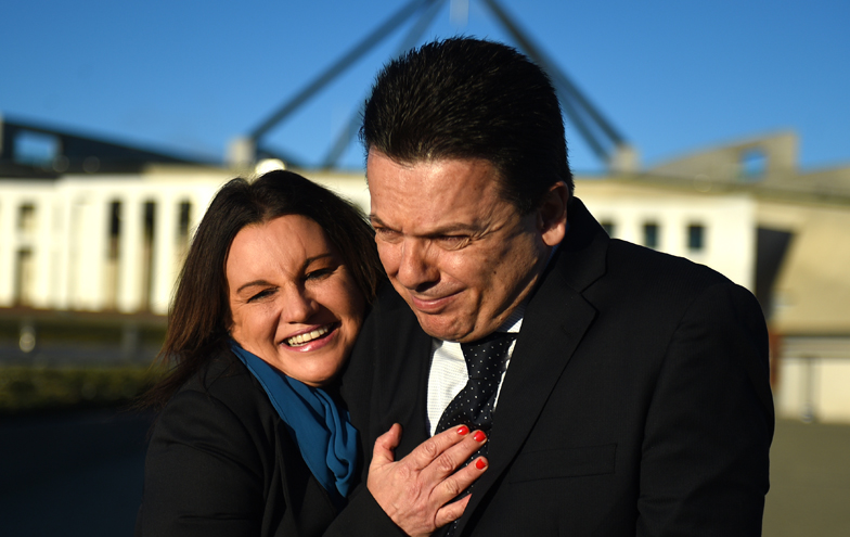 Jacqui Lambie and Nick Xenophon