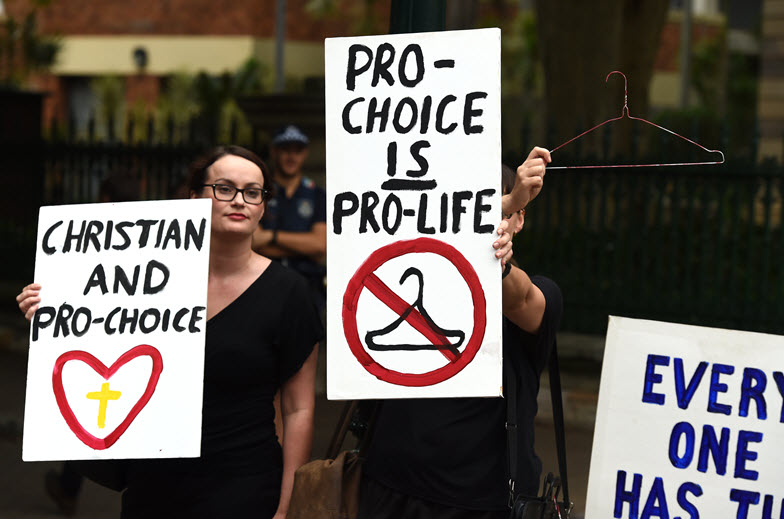 Queensland abortion pro-choice rally