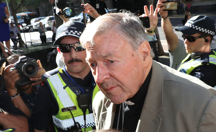 Cardinal George Pell at Melbourne's County Court (Image: AAP/David Crosling)