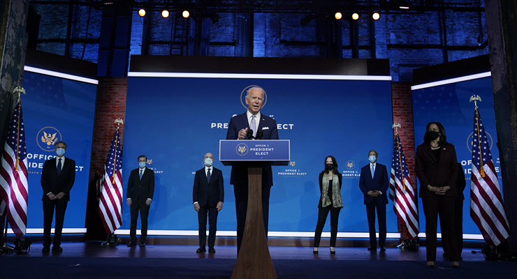Joe Biden introduces his nominees and appointees to key posts in his team (Image: AP/Carolyn Kaster)